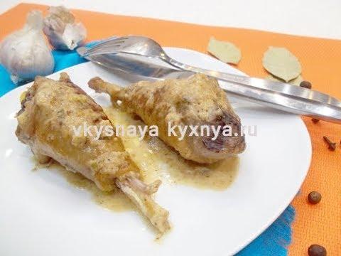 Гедлибже из курицы по кабардински - нежная курочка в луково-сметанном соусе.
