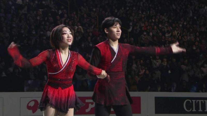 Венжинг Суи и Конг Хан. Показательные выступления. Чемпионат мира по фигурному катанию 2019