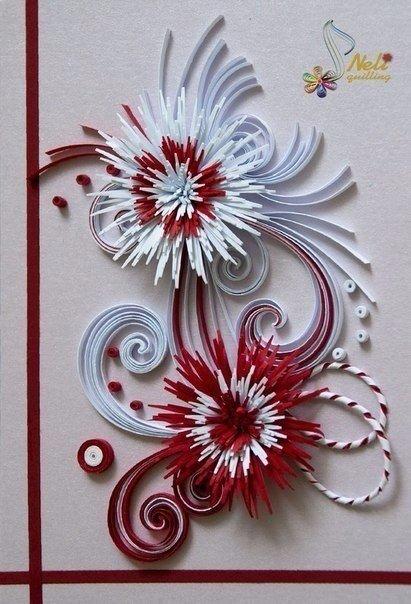 Красивые открытки в технике квиллинг. Идеи для вдохновения....