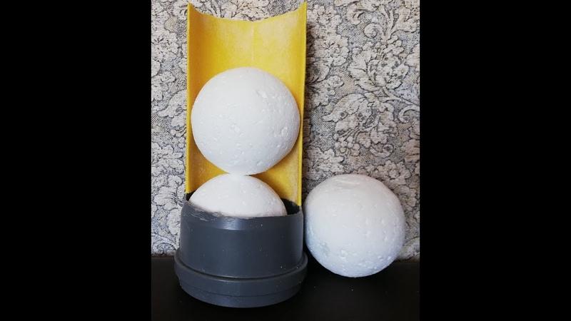 Как сделать станок для пенопластовых шаров d=10см.