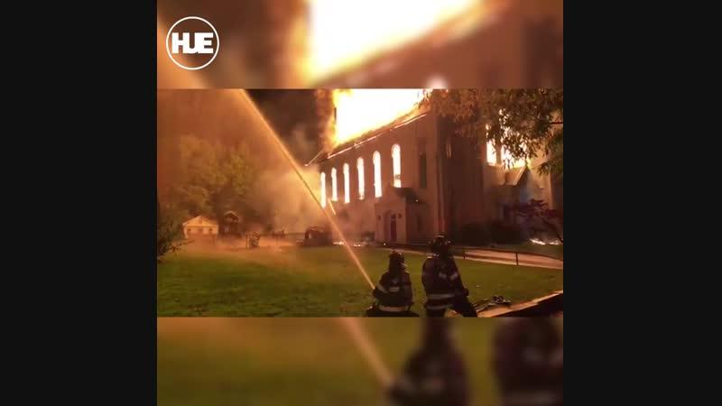 В США произошёл пожар в здании Баптистской церкви