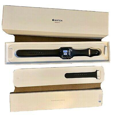 Apple Watch 3 42mm Space Gray Aluminum Black Sport идеальное состояние 370р ,все...