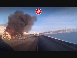 Последствия ДТП в Воронежской области 15.01.19