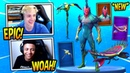 NINJA REACTS TO *NEW* FLYTRAP SKIN VENUS FLYER GLIDER AND TENDRIL PICKAXE Fortnite Moments