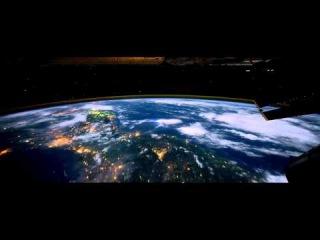 Вокруг Земли за 60 секунд (ночной полет)  (1080p HD)