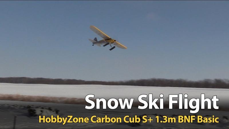 Hobbyzone Carbon Cub S - Snow Ski Flight
