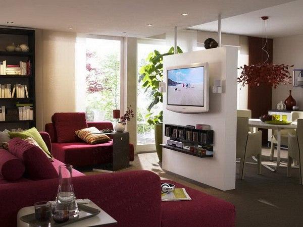 Идея зонирования комнат в маленьких квартирах