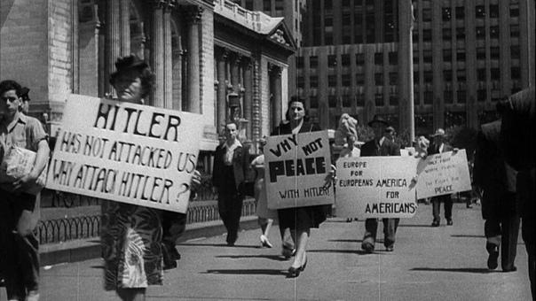 Фото,1941 год. Антивоенные протесты в Нью-Йорке