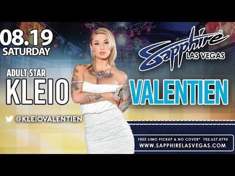 Porn Star Kleio Valentien Dances Topless at Sapphire Hosts Best Las Vegas Day Club August 12th