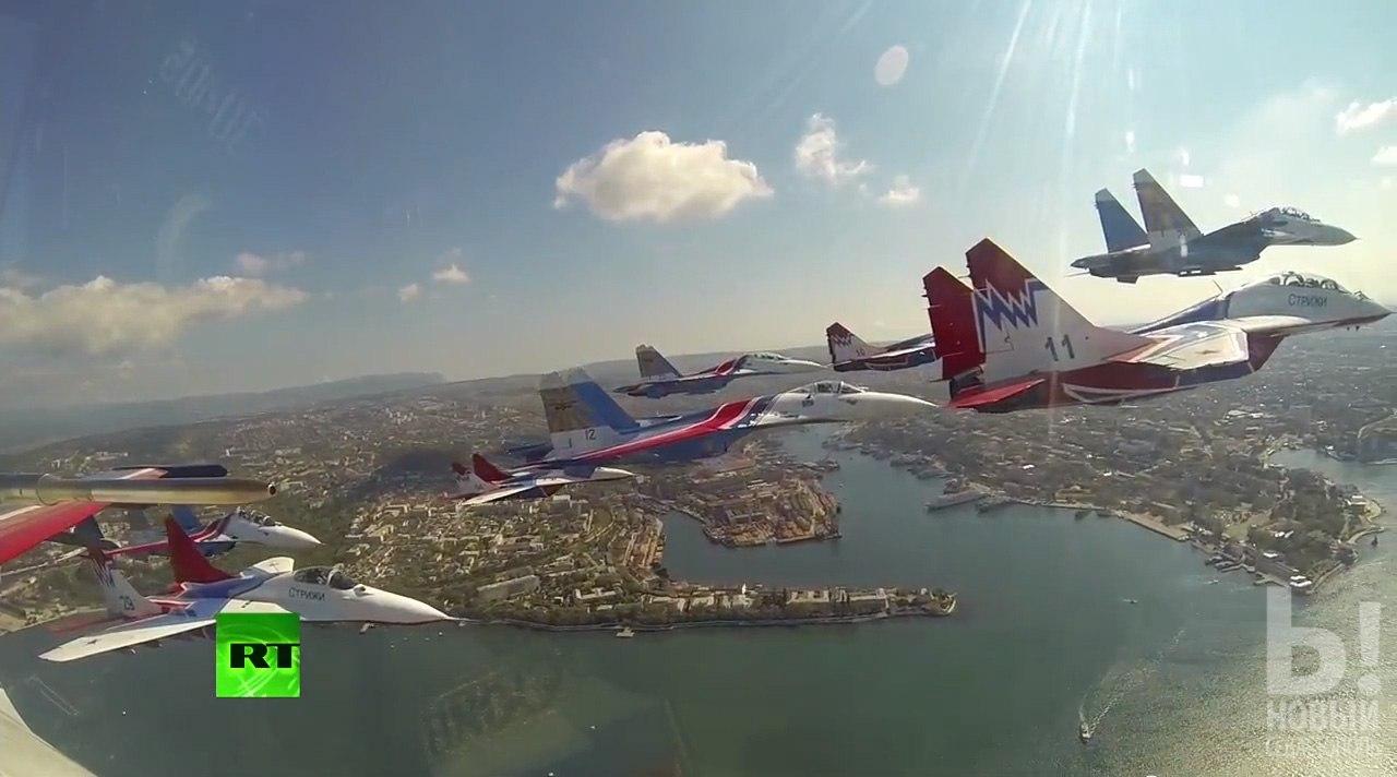 МиГ-29 СТРИЖИ и Су-27 РУССКИЕ ВИТЯЗИ