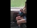 Девушки ломают наушники во время поездки в троллейбусе(3489), часть 2
