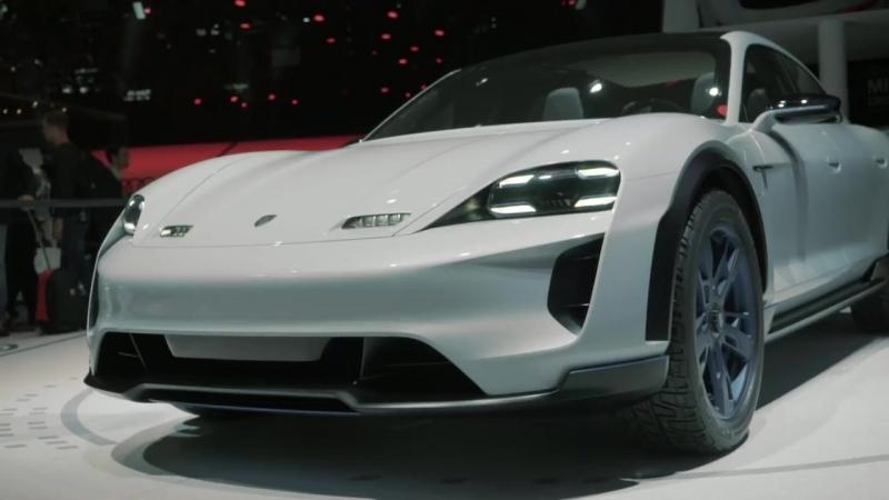 The Porsche Concept Study Mission E Cross Turismo at the Geneva Motorshow 2018