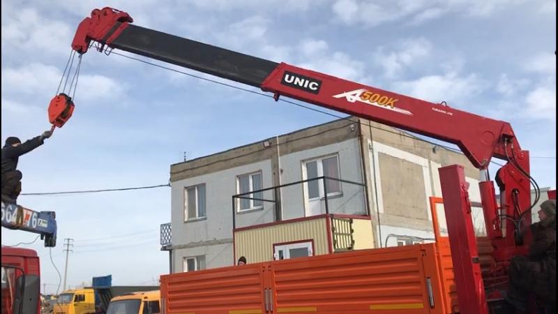 Камаз 4310 с евро платформой и КМУ 5 тонн