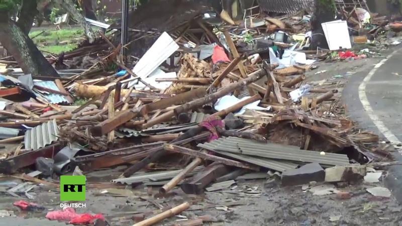 Todeswelle in der Urlaubssaison: Mindestens 168 Tsunami-Opfer in Indonesien