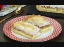 Творожная начинка, безе и яблоки - вкуснейшая сладость отлично дополнит чаепитие! | Больше рецептов в группе Десертомания