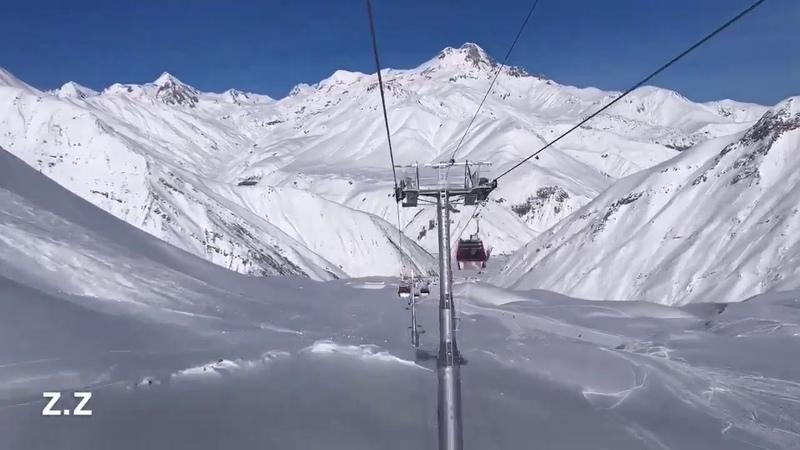 В Гудаури открылась самая длинная в регионе канатная дорога до Коби, мимо Крестового перевала