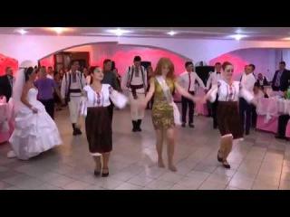 Фантастический танец на молдавской свадьбе Moldavian wedding