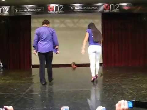 Eddie torres y griselle ponce footwork @ on2 salsa congress 2012
