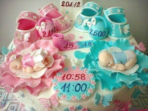 Удивительный торт в День Рождение двойняшек