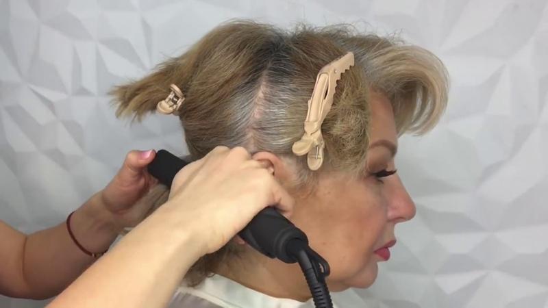 Укладка на короткие волосы Анна Комарова