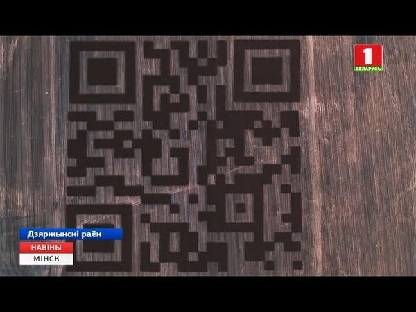 Самы вялікі QR код стварылі пад Мінскам