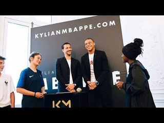 Kylian Mbappe Launch his own website