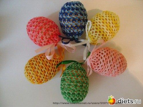 Мешочки для яиц , связанные