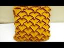 Smocking frill Cushion cover Flare ruffled design cutting making Punto DIY Arrow head caption cojin