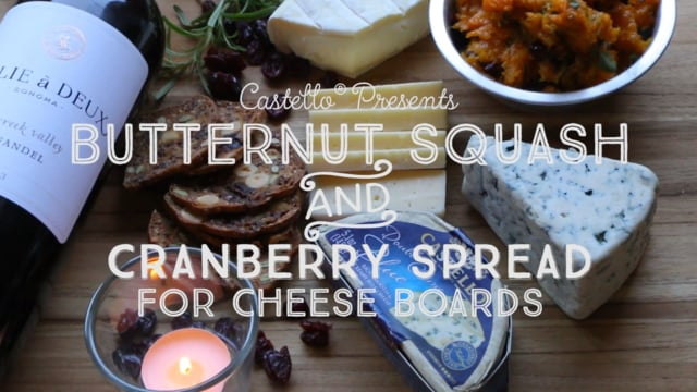 Butternut Squash and Cranberry Spread - Presented by Castello Cheese