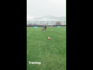 Alexis Sanchez getting ready for the new season
