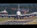 FARNBOROUGH AIR SHOW 2018 warm up AIRBUS A400 A380 and Red Arrows AIRSHOW
