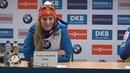 Пресс-конференция после женской гонки преследования. Хохфильцен 2018