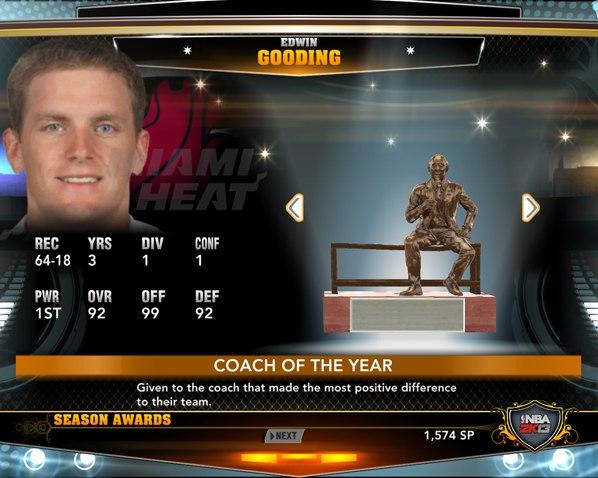 лучший тренер НБА2К13
