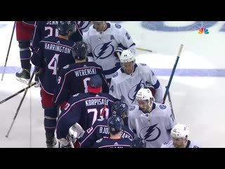 Blue Jackets shake hands with Lightning after first-round sweep