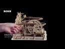 Robotime Механическая модель LG501 Водяное колесо каботажное судно