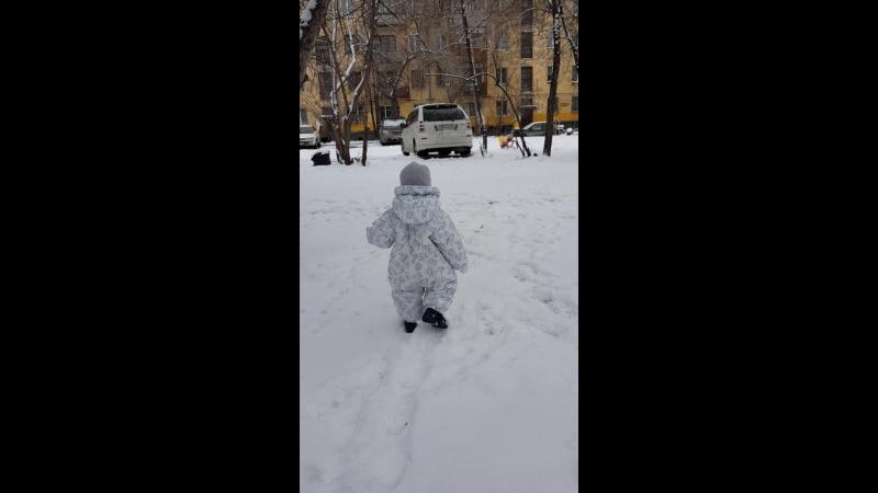 08.11.2017 Первые шаги по снегу