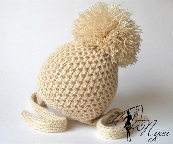 схемы вязания шапок спицами для детей