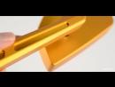 KiWAV - Magazi Cleaver CNC Aluminum Motorcycle Mirrors Universal Gold
