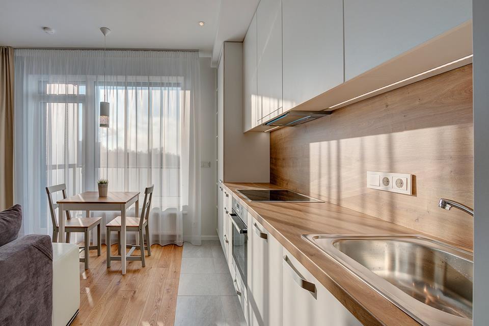 Интерьер квартиры-студии около 30 м в Вильнюсе.