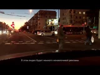 Девушка на Mercedes устроила ЖЕСТЬ на дороге. Смотреть со звуком