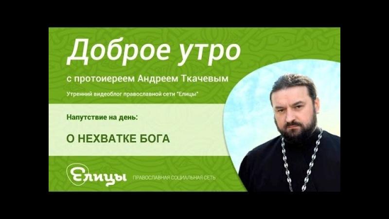 О НЕХВАТКЕ БОГА священник Андрей Ткачев О чем скорбит душа когда Бога бывает мало а когда много