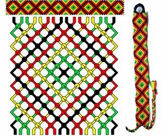 Схема фенечки ромбиком из мулине