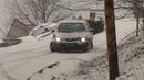 Cars slip and slide down icy hill Charleston WV February 27 2008