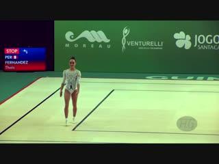 FERNANDEZ Thais (PER) - 2018 Aerobic Worlds, Guimaraes (POR) - Individual Women Qualifications