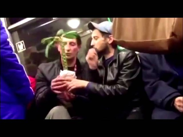 наркоманы и цветочек в метро