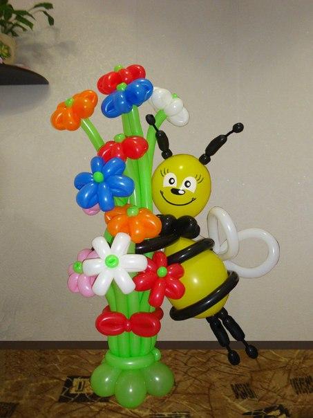 Пчела из шаров