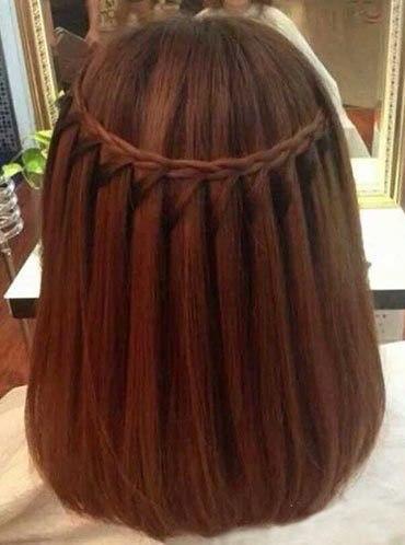 Прически на удлиненное каре с косами