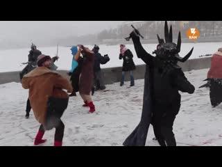 Ледовое побоище в центре Екатеринбурга