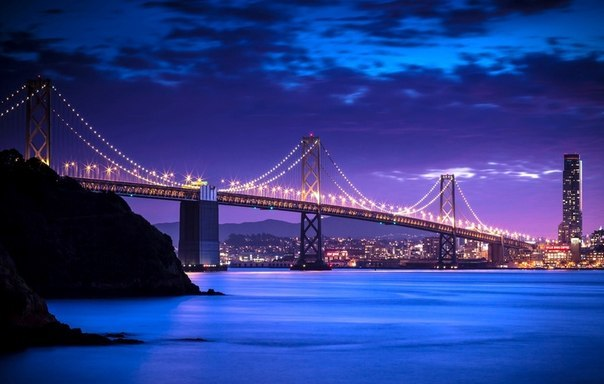 Мост из Сан-Франциско в Окленд,