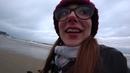 Анапа сегодня - Анапа зимой. Ч1. Пляж. Собака Вельш Корги. Анапцы собирают ракушки. Шторм на море.